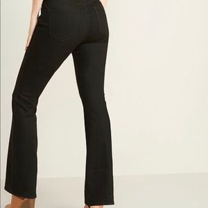 Old Navy black mid rise micro flare ankle jeans